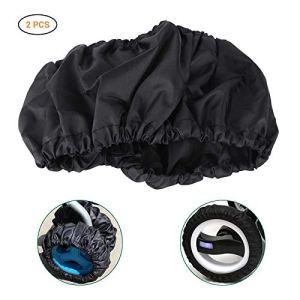 Housse de protection contre la pluie pour poussette/baignoire Noir