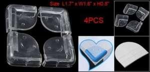 Plastique souple bureau d'angle Pad Cover Protector Coussin 4 Pcs Clear Color: Clair, Modèle: