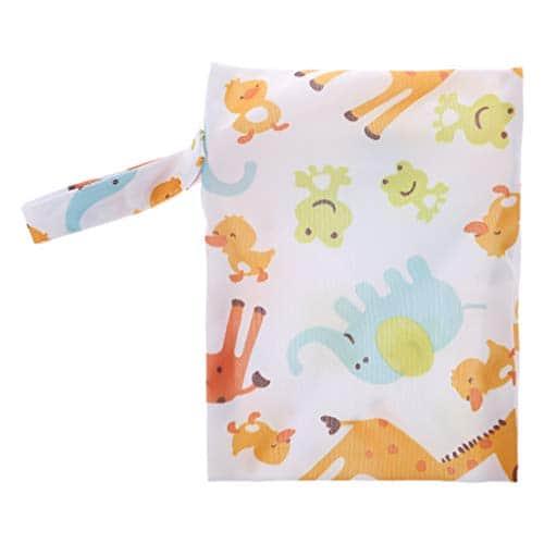 Ruda Sac de rangement pour couches de bébé étanche et sec Mini fourre-tout avec fermeture Éclair