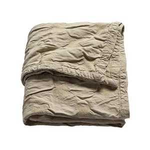 Sonnenstrasse 11 – Couverture pour bébé tissé Étoiles Sable 120×150 cm, 65% coton & 35% chenille – intérieur velours
