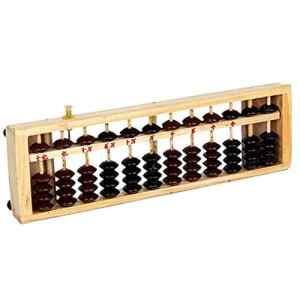 Trifycore Lattes en Bois Vintage-Style 12 Bits Calculatrice Standard Abacus Soroban Outil de comptage Chinois, école et Aides à l'enseignement