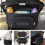Winiron Sac de Landau ou Poussette Sac de Rangement Multifonctionnel Oxford Tissu Encaisser Portable