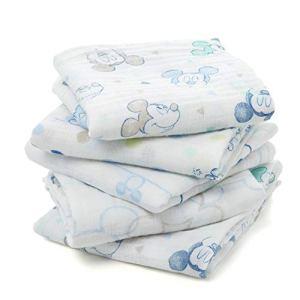 aden by aden + anais langes musy, 100% mousseline de coton, 60cm x 60cm, pack de 5, Mickey bubble