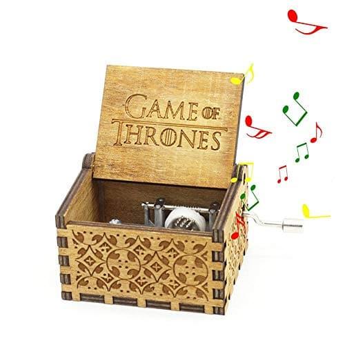 Boîte à Musique Game of Thrones, MOGOI Antique manivelle main sculptée en bois boîtes à musique plus beau cadeau pour Noël anniversaire