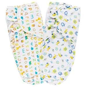 Couvertures d'emmaillotage, Lictin Gigoteuse d'emmaillotage en Coton Pour Bébé 0-6 Mois