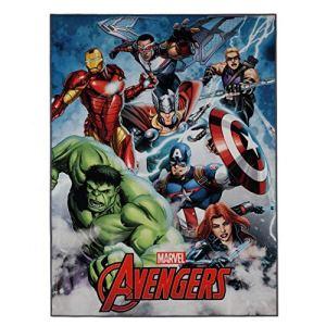GUIZMAX Tapis Enfant Avengers 125 x 95 cm Chambre Disney Digital
