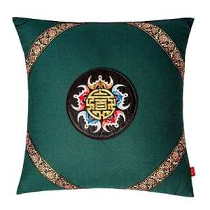 JINZA Main Broderie Coussin Coussin Broderie Oreiller Coussin Ménage Coussin 450mm * 450mm (Y compris Pillow core) , a