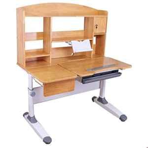 Rehausseur bébé Table d'étude et chaise inclinables de table d'étude de chaise de bureau d'enfant pour la table en bois d'art d'enfants d'enfants réglée de bureau réglable en hauteur Chaise de salle à