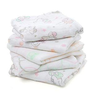 aden by aden + anais langes musy, 100% mousseline de coton, 60cm x 60cm, pack de 5, Minnie bubble