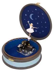 Boîte à musique animée Trousselier, fétiche de Félicie, personnage du dessin animé Ballerina, avec ballerine dansante – Le lac des cygnes (P. I. Tchaïkovski)