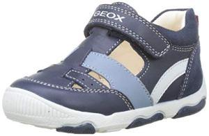Geox B New Balu' Boy B, Baskets Basses bébé garçon, Gris (Navy C4002), 22 EU