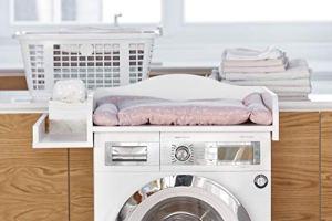 KraftKids Table à langer–Blanc Compatible avec toutes les machines à laver