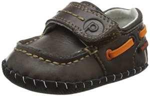 pediped Norm, Chaussures souple pour bébé garçon – Marron – 6-12 mois ( Taille Fabricant : 19 EU )