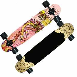 Skateboard SkaterTrainer Planche de danse / skateboard route garçons / scooter adulte / la longue brosse de piste de danse à deux roues Street ou adultes enfants débutants filles garçons ( Color : I )