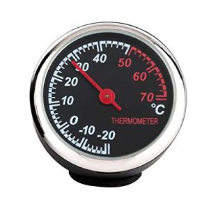 Small Size Round Shape Car Automobile Thermometer Auto Beautiful Car Interior Decoration Ornament Car Styling