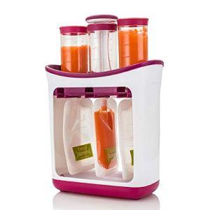 Squeeze Station de jus de fruits frais fait maison Fabricant de nourriture pour bébé avec sacs de rangement