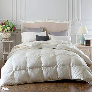 Couette muette Belle Couette de Confort Jacquard Core 95 oie Blanche vers Le Bas Cadeau Chaleureux literie hôtel