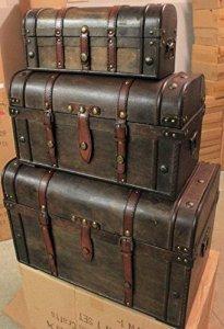 Generic E Boîte de Coffre Pirate Box TR Pirate Boîte en Bois Coffre au trésor Coffre de Stockage Cadeau trésor en Bois CH