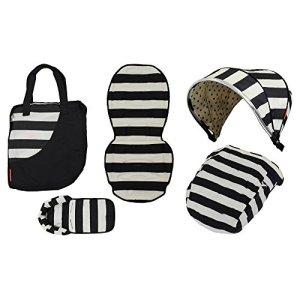 VITAL INNOVATION Couverture Pack Couleur Vogue pour Poussettes Oyster 2 et Oyster Max Noir et Blanc