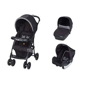 Safety 1st TALY 3en 1trio poussette, poussette avec berceau bébé et siège bébé, système modulaire, couleur Black Chic