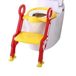 Wanlianer-Baby Products Siège de Toilette rembourré Anti-dérapant pour Enfant (Couleur : Jaune, Design : Padded)