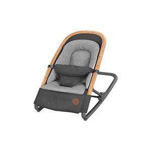 Bébé Confort Kori Transat 2 en1, Transat Léger avec Réducteur Confortable pour Nouveau-Né, de La Naissance à 9 Mois (0- 9Kg), Essential Graphite