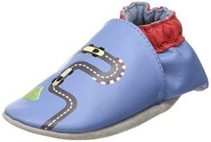 Robeez Speedy Car, Chaussons Mixte bébé, (Bleu 5), 19/20 EU