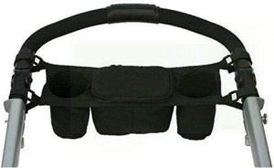 LAAT 1Pcs Sac Organisateur pour Poussettes de Bébé Sac de Rangement Multifonctionnel Portable Organiseur pour Poussette pour Biberon Lait en Poudre Couche-culotte