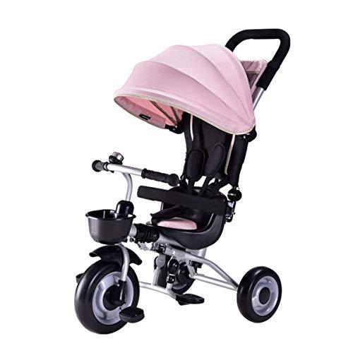 Le tricycle à pédale des enfants multi-fonctions de tissu de coton d'air de siège + d'Oxford, voiture se pliante légère de pédale de main, convient à 1-3 ans bébé enfant en bas âge produit pour bébé