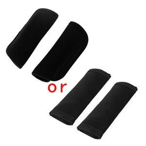 LiliWLL Lot de 2 housses de protection multifonctions en néoprène pour poignée de poussette taille unique Noir