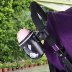 Porte-gobelet poussette, Universel 360 Degrés Rotation Porte-gobelet Bouteille Réglable bouteille organisateur pour bébé poussettes