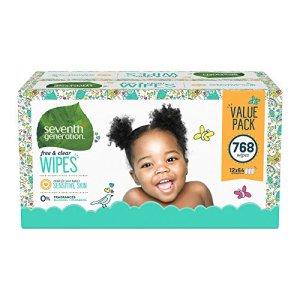 Septième génération gratuit et distributeur de lingettes bébé clair avec flip top