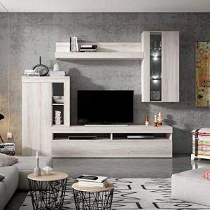 Ventemeublesonline Composition DE Salon MASHATI Shamal Ardoise 250 CM