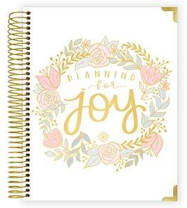 Bloom Quotidiennes de l'ordre Nouveau de grossesse et de bébé première année Planner & Journal souvenir–Coque rigide Organiseur souvenir–Undated–20,3x 25,4cm–planification pour Joy
