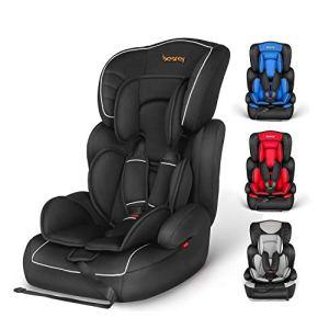 besrey Siège Auto Groupe 1/2/3 pour Enfant de 9 à 36kg, Rehausseur de Voiture Portable et Sécuritaire avec protections Multiples, Noir.