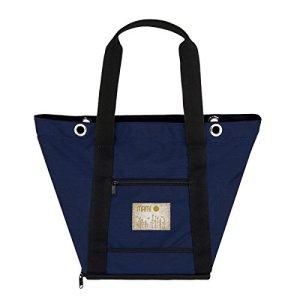Mami–Sac nursery/à langer avec matelas et poches, grande et légère, universelle pour poussette/landau avec crochets ou bandoulière, Made in Italy, imperméable et incassable Moderne Noir et bleu