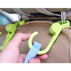 Mmnas 2 crochets de rangement en plastique pivotants pour poussette