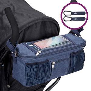 Organisateur, organiseur, sacoche, sac de rangement BTR pour poussette ou landau