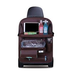 Sac de Rangement du siège arrière de Voiture PU Sac Poubelle étanche caché Multifonction adapté pour Support Tablette Voyage en Famille