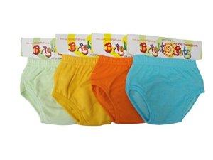 Bright Bots Lot de 4 Potty Training Pants Culotte d'apprentissage Unisex (approx 24-30mois),