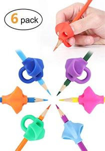 Pencil Grips, Aprilfun Pencil Grips For Kids Handwriting Aid Grip Trainer Posture Correction Finger Grip For Kids, Adults, 6 Packs