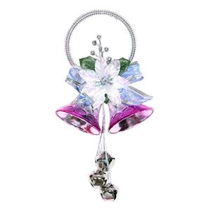 5lightrich Christmas Flower Bells Pendant Home Party Wall Xmas Tree Hanging Decor Silver