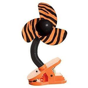 DREAMBABY™ Stroller Fan – Ventilateur à Clipser de Poussette (Motif: Tigre)