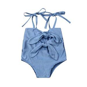 Maillots de Bain Bikini Plage Filles Bébé Tankini de Plage Bikini noué Eté Fashion Décontracté Swimsuit