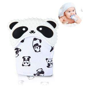 Mitaines de dentition pour bébés, leegoal Sans BPA Bébé Gants de dentition avec bruit crépu, Soulagement de la douleur auto-apaisant Munch Mitten Baby Jouet de dentition pour bébé de 3 à 18 mois
