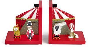 Mousehouse Gifts – Serre-livres 3D pour chambre d'enfant – en bois/thème cirque