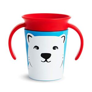 Munchkin Tasse d'Apprentissage Miracle 360°, Ours Polaire