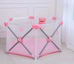 Shuang Piscine à balles pour barrière de Jeux pour bébé/Enfants, Rampe de Jeu Pliable, Rangement Facile, clôture hexagonale, Barre de sécurité pour Tout-Petits(B)