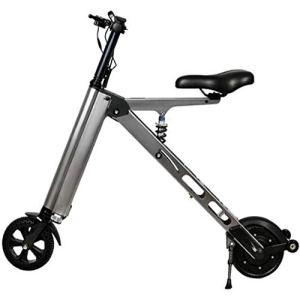 WXQKD Portable Pliant vélo électrique Vélo Pliant Double Frein à Disque pour Faire du vélo, Rapide, Puissant, 120 kg Résistance à la Charge
