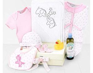 Panier de bain bébé rose